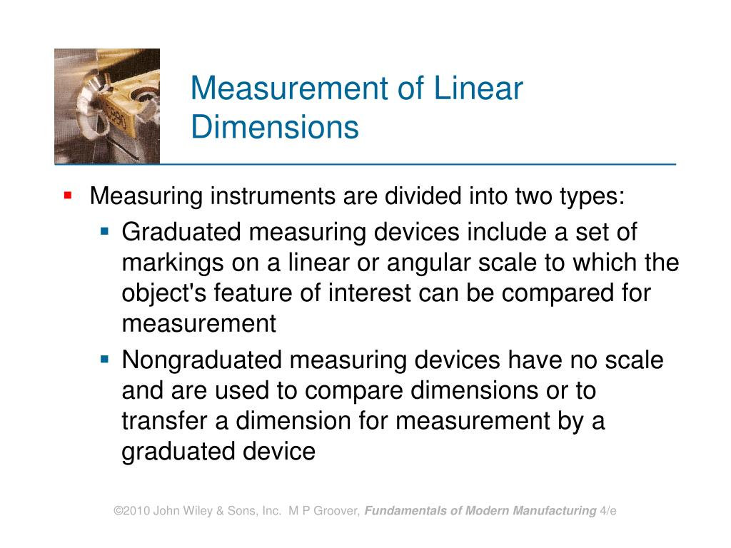 Measurement of Linear Dimensions