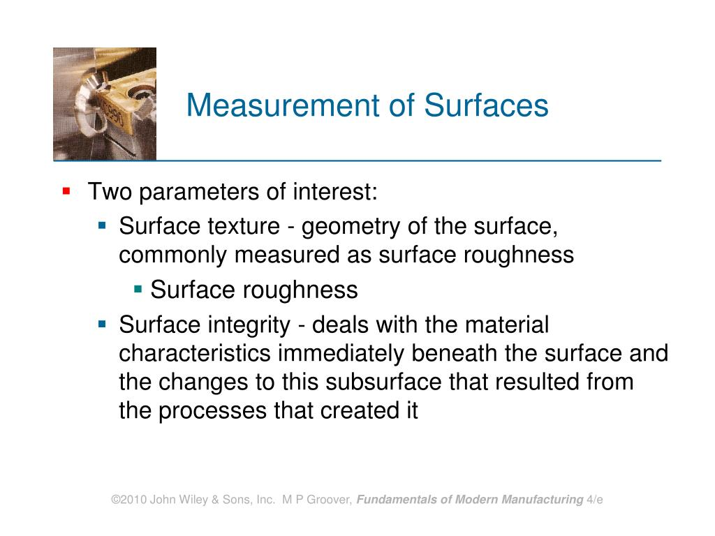 Measurement of Surfaces