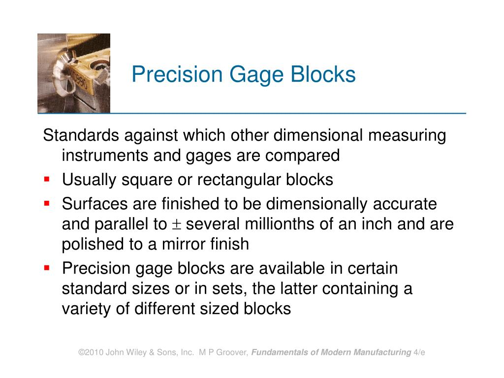 Precision Gage Blocks