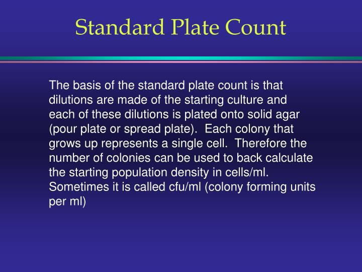 Standard plate count