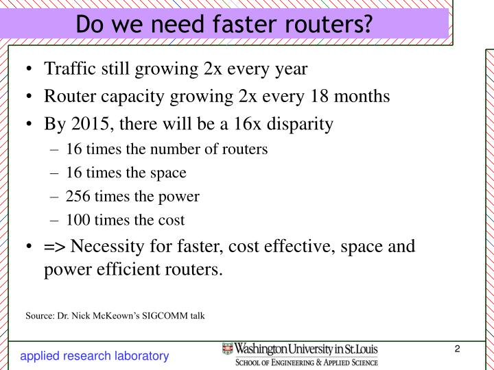 Do we need faster routers l.jpg