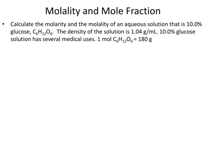 Molality and mole fraction3