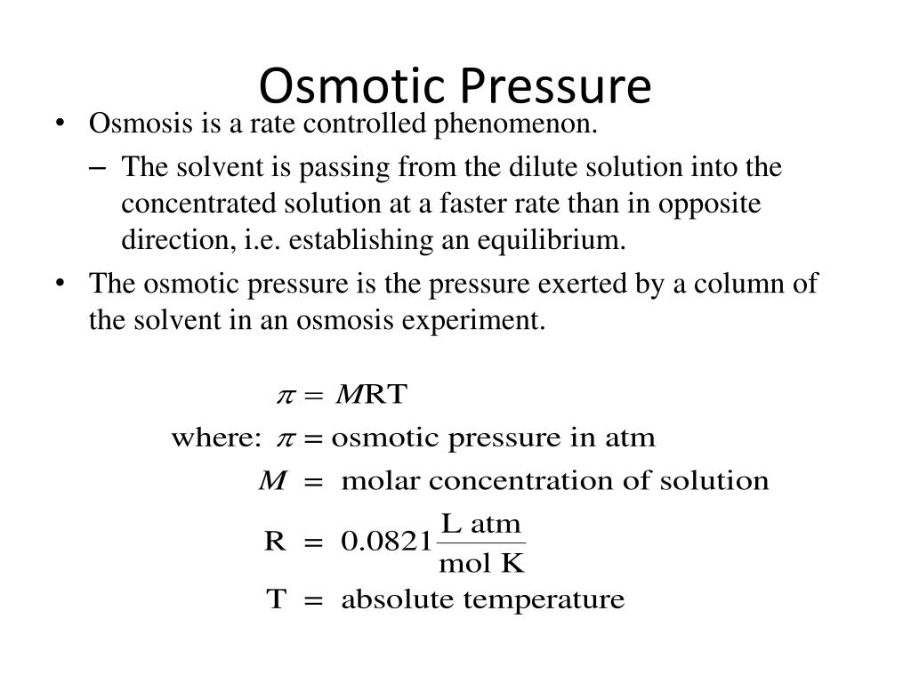 how to find osmotic pressure