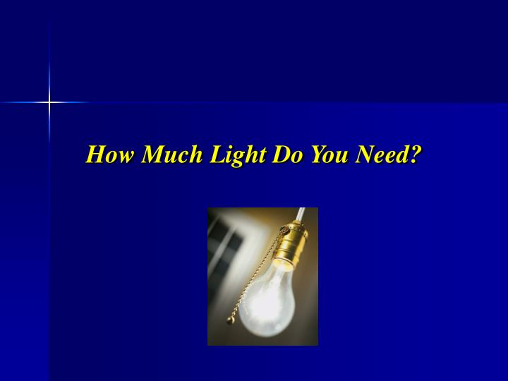 How much light do you need