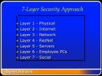7 layer security approach