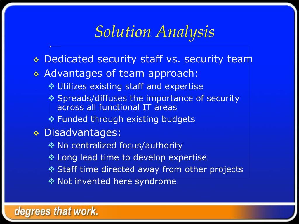 Solution Analysis