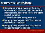 arguments for hedging