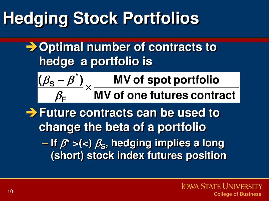 Hedging Stock Portfolios