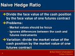 naive hedge ratio