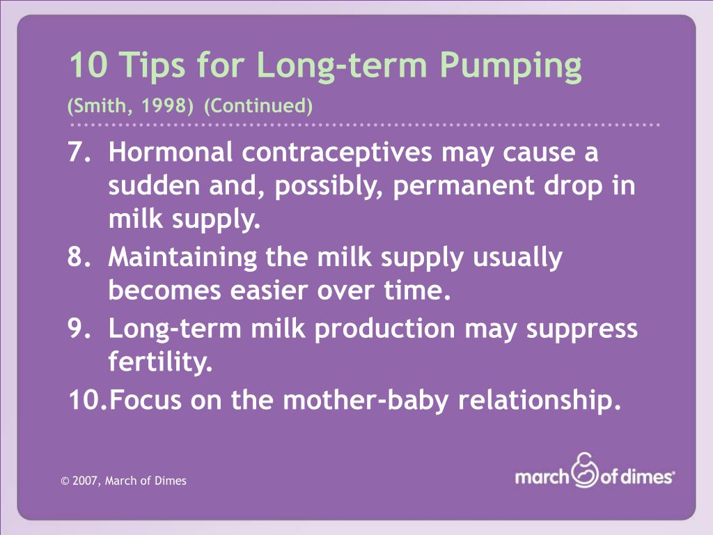 10 Tips for Long-term Pumping