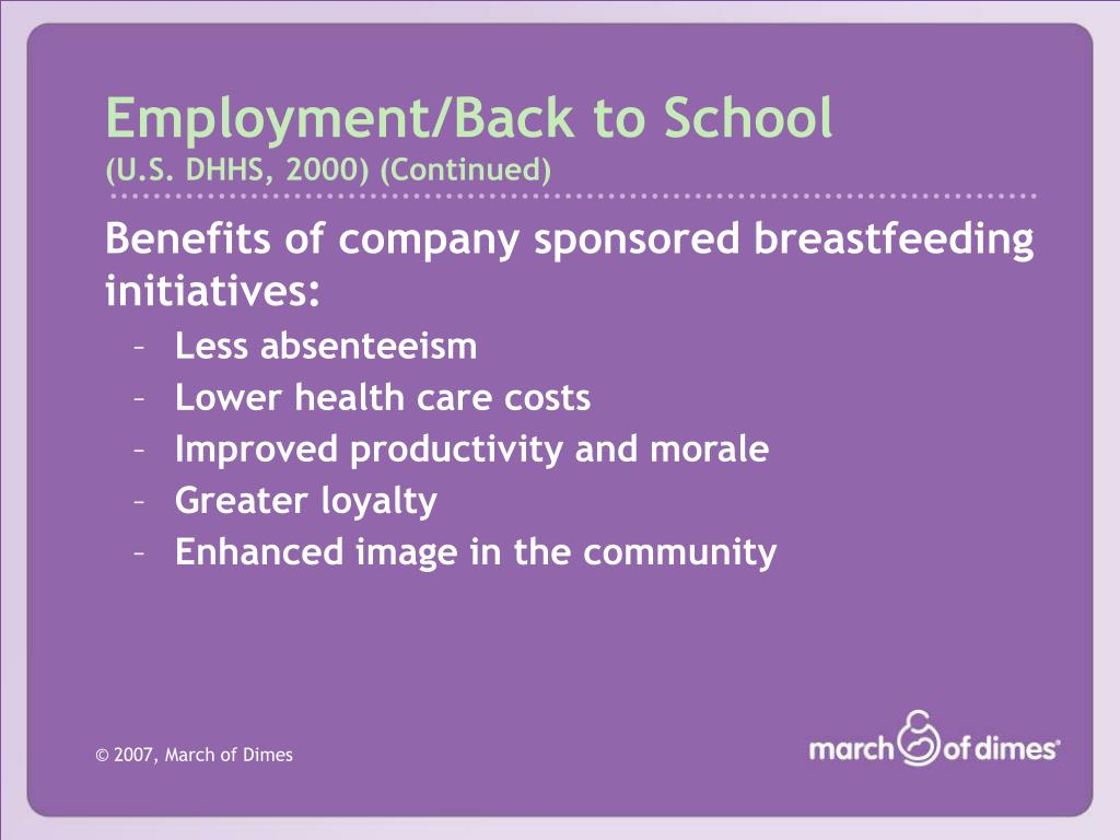Employment/Back to School