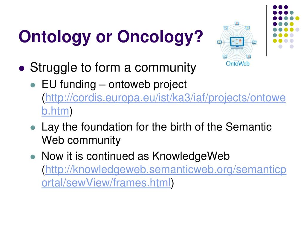 Ontology or Oncology?