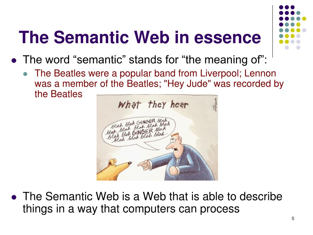 The Semantic Web in essence