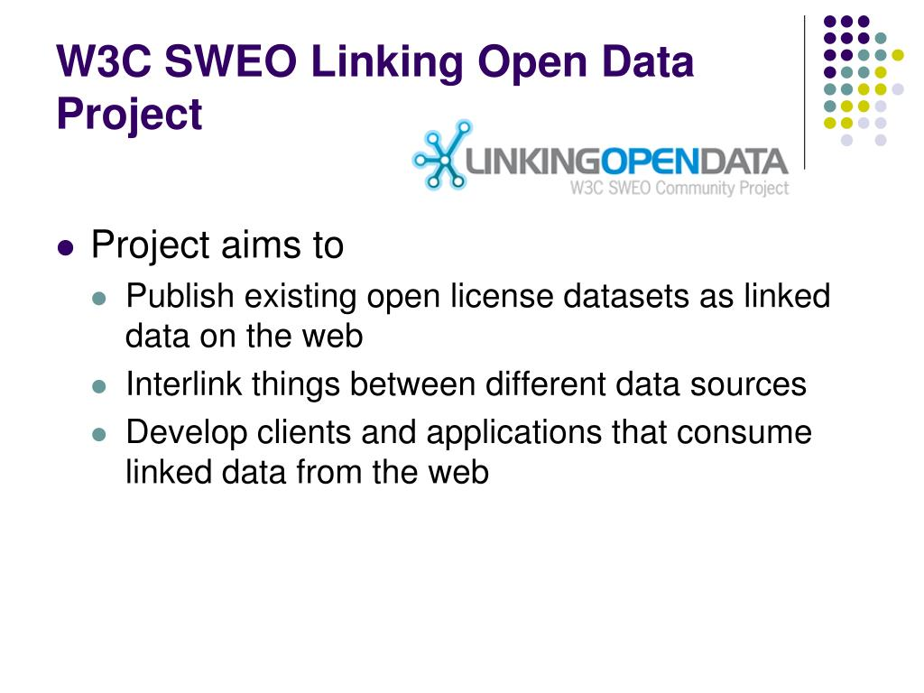 W3C SWEO Linking Open Data Project