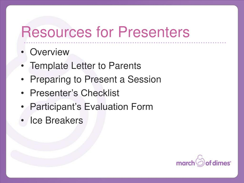 Resources for Presenters