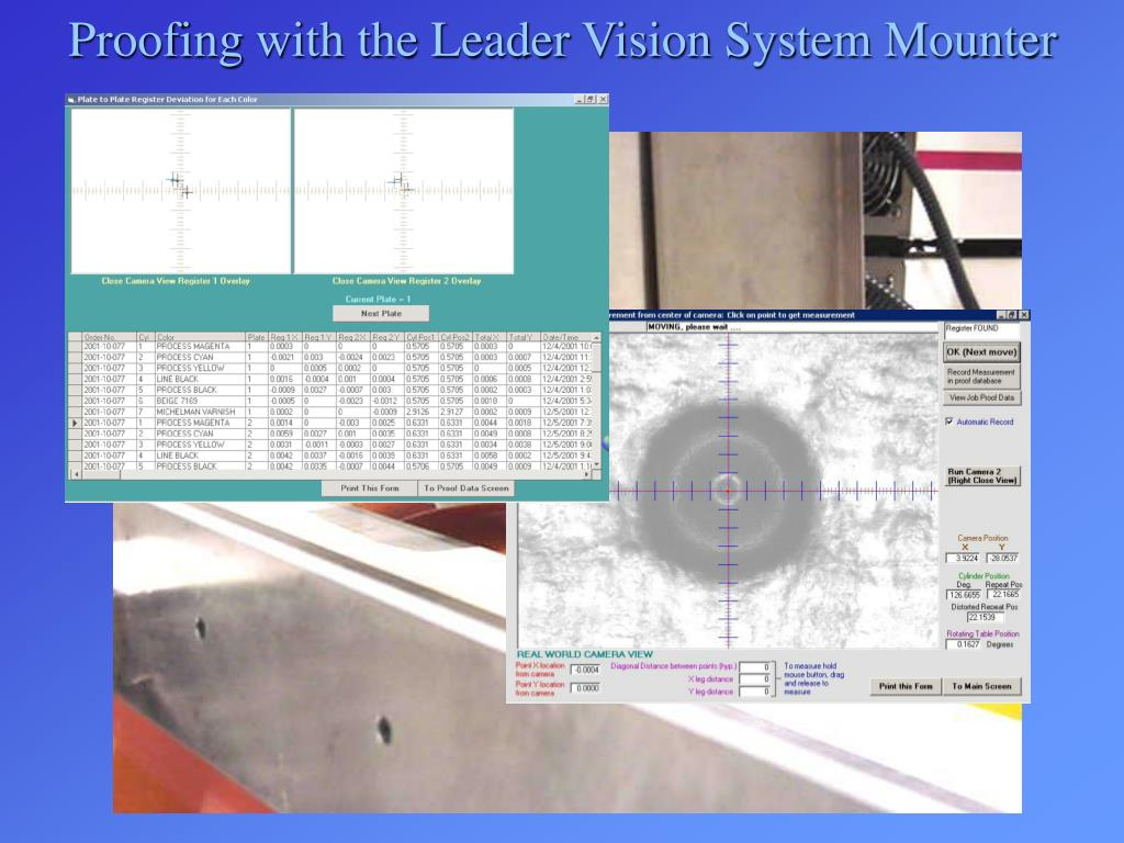 Proofing with the Leader Vision System Mounter