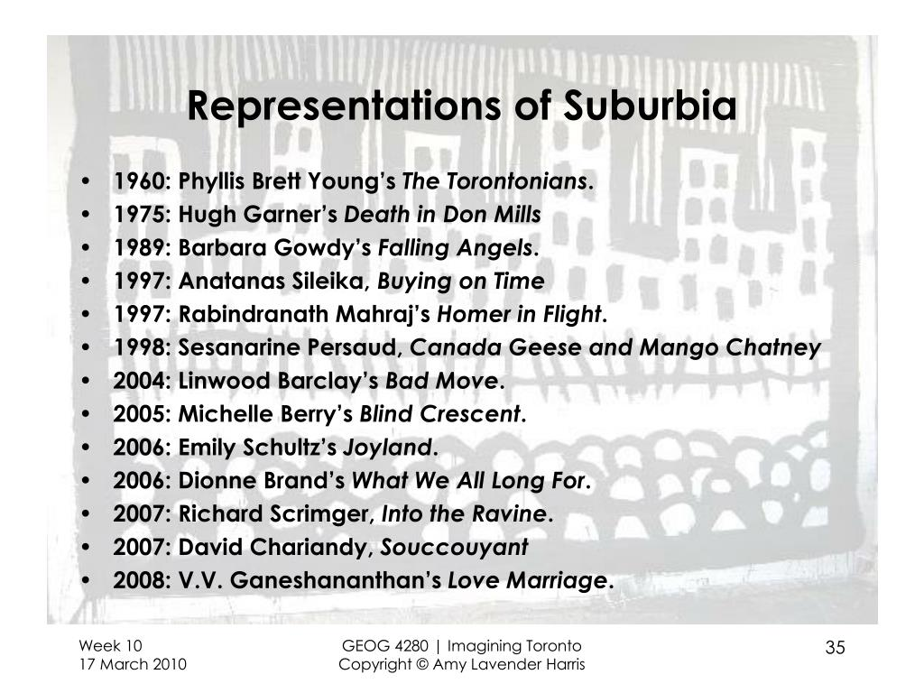 Representations of Suburbia