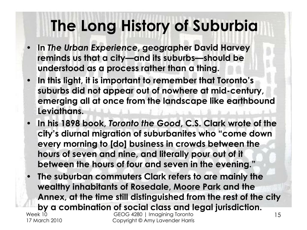 The Long History of Suburbia