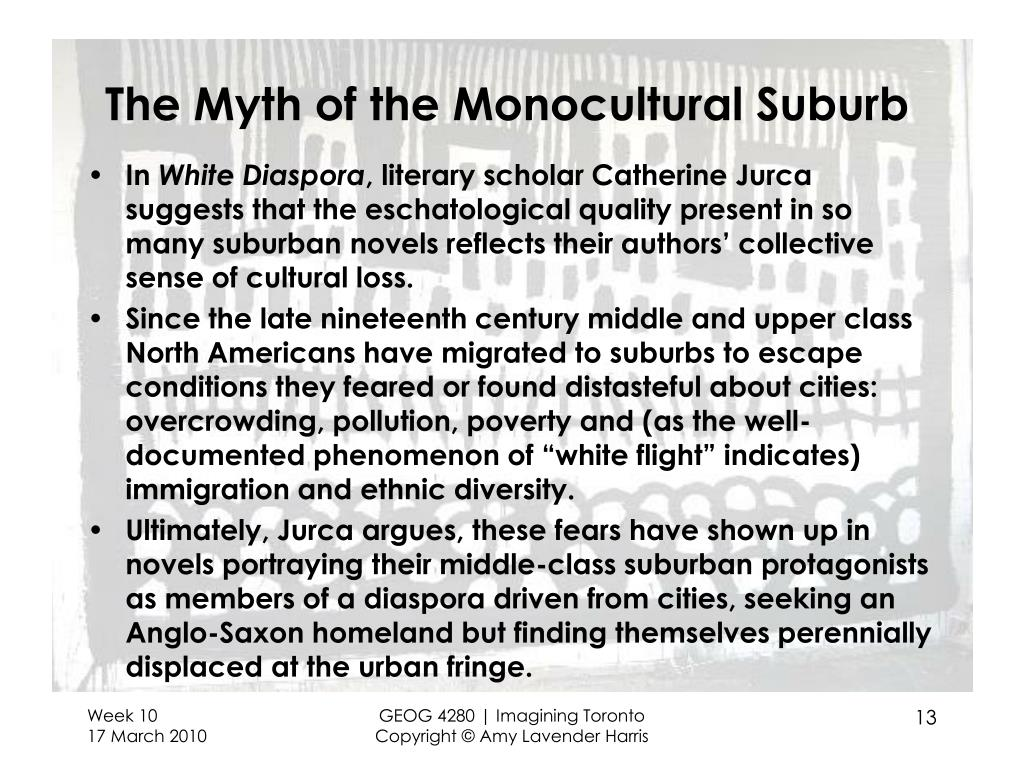 The Myth of the Monocultural Suburb