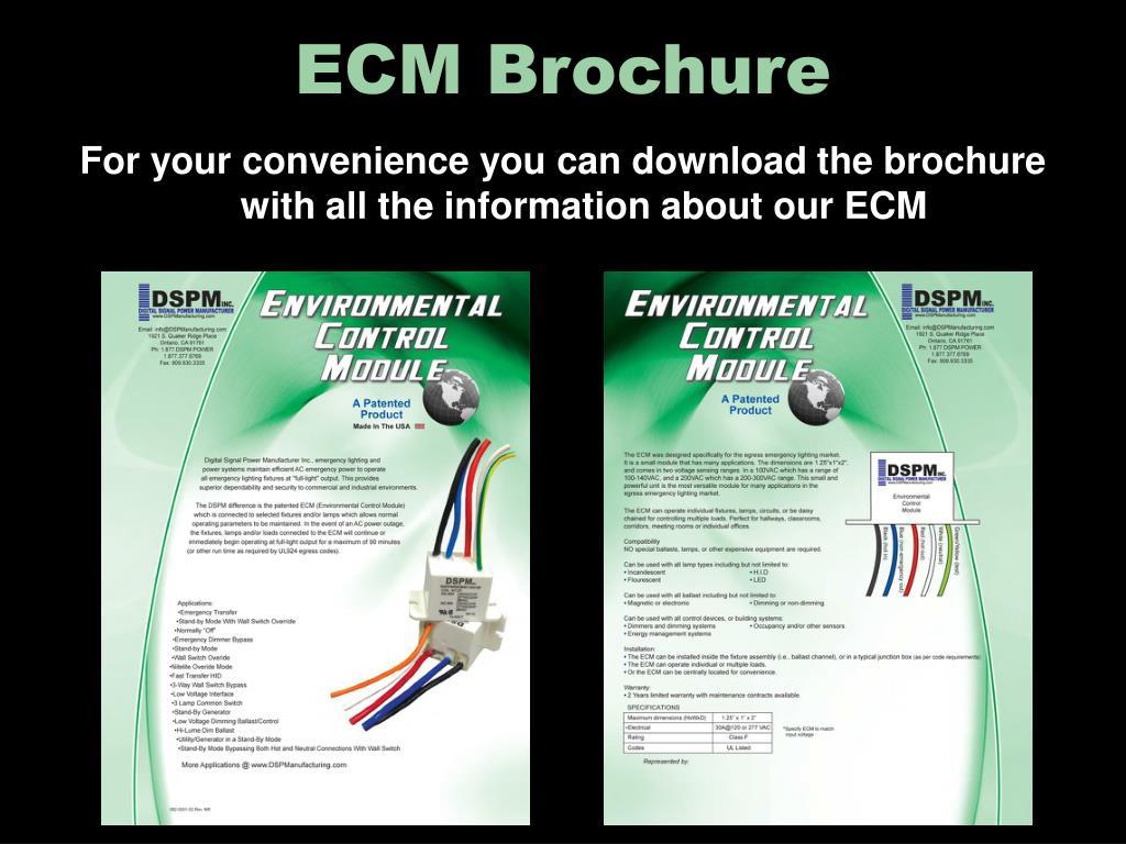 ECM Brochure