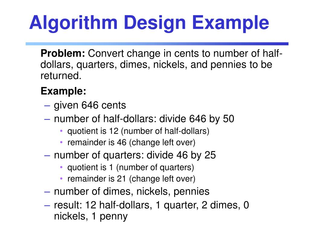 Algorithm Design Example