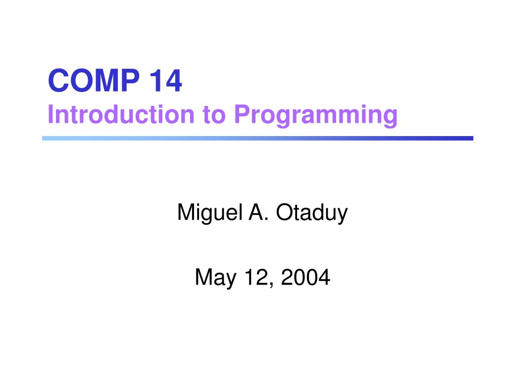 COMP 14