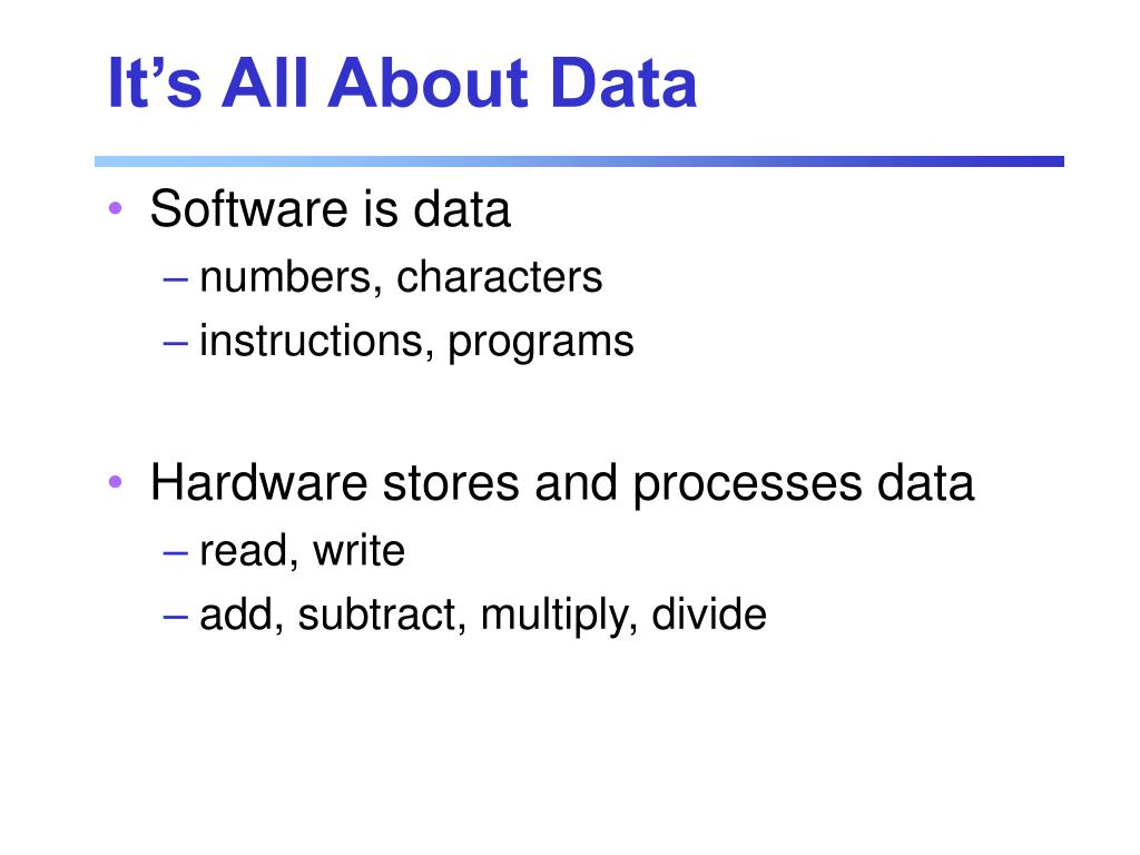 It's All About Data