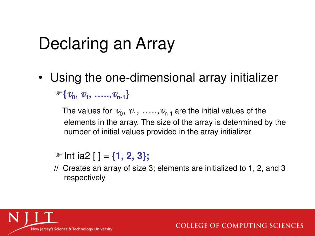 Declaring an Array