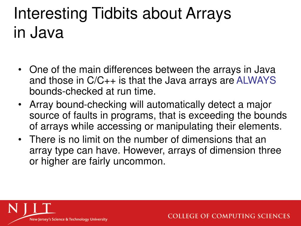 Interesting Tidbits about Arrays in Java