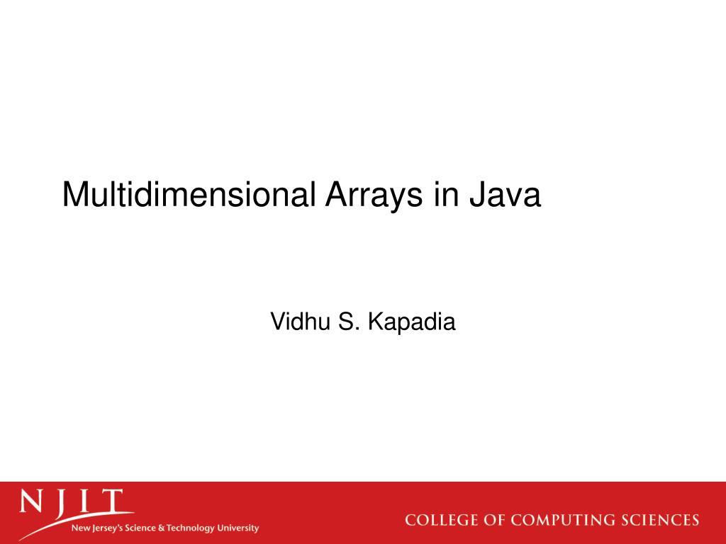 Multidimensional Arrays in Java