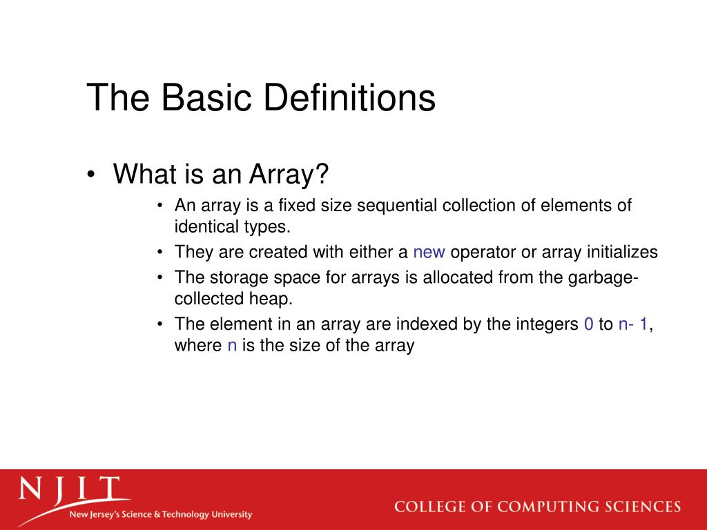 The Basic Definitions
