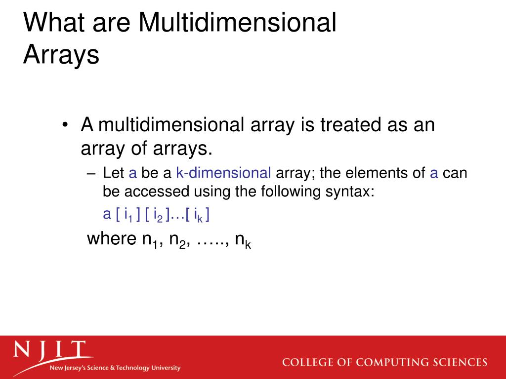 What are Multidimensional Arrays
