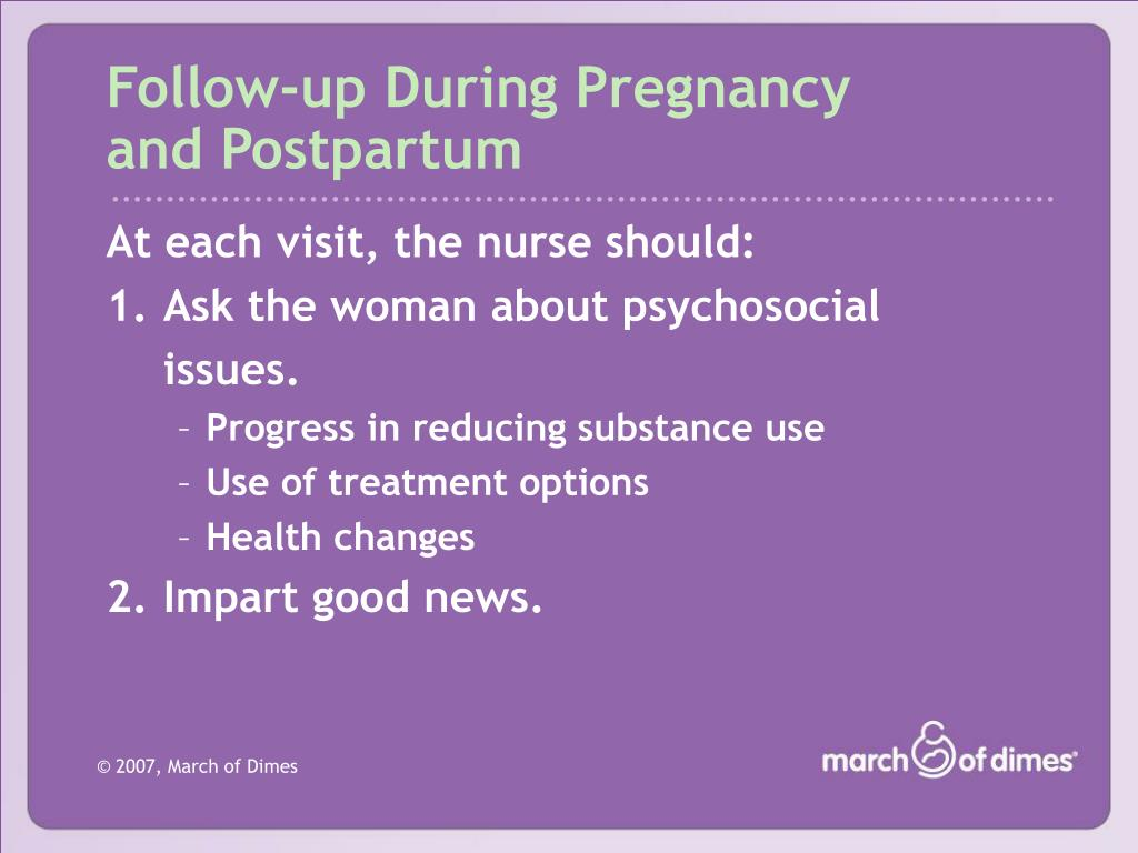 Follow-up During Pregnancy