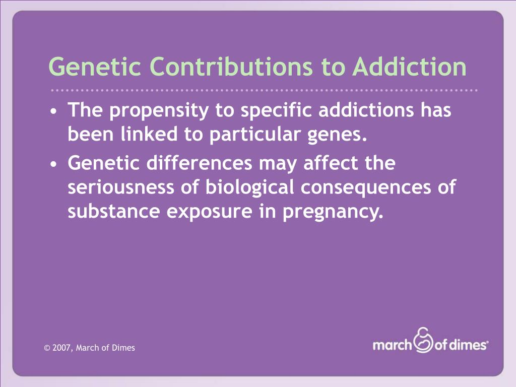 Genetic Contributions to Addiction