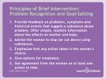 principles of brief intervention problem recognition and goal setting