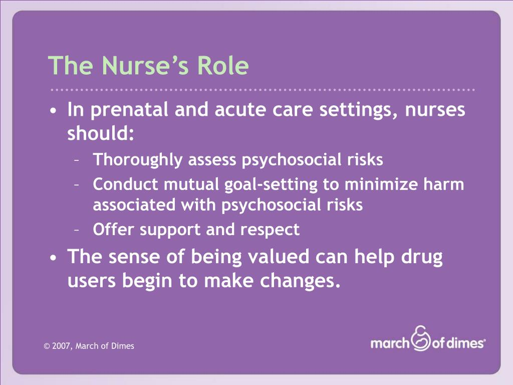 The Nurse's Role