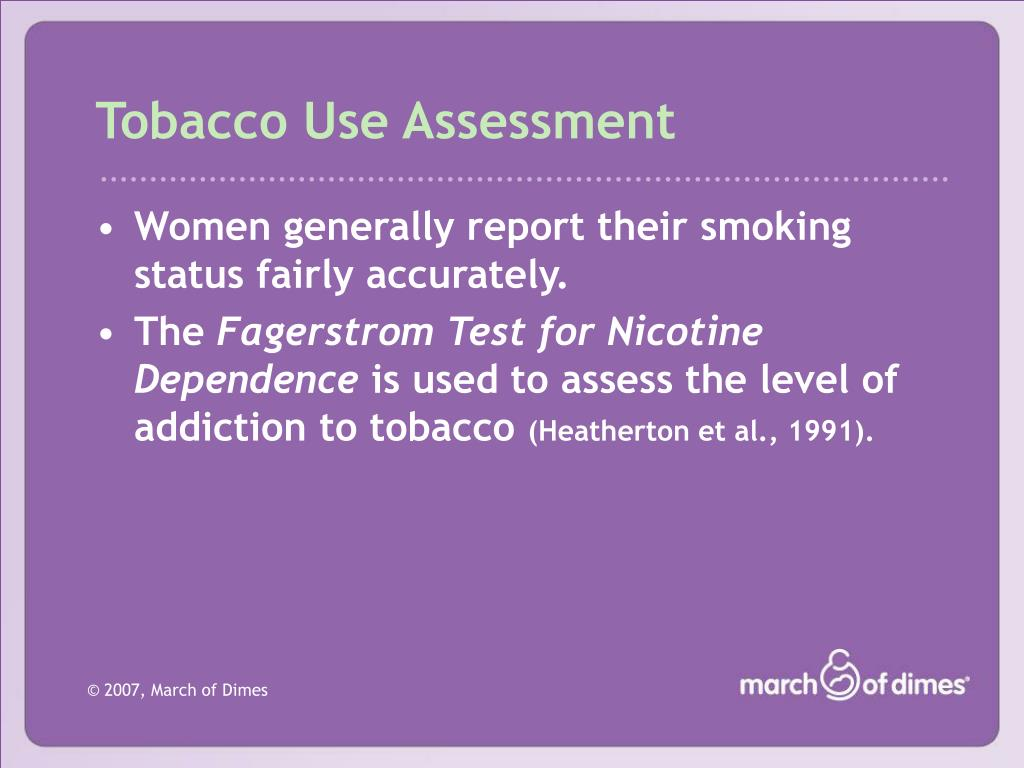 Tobacco Use Assessment