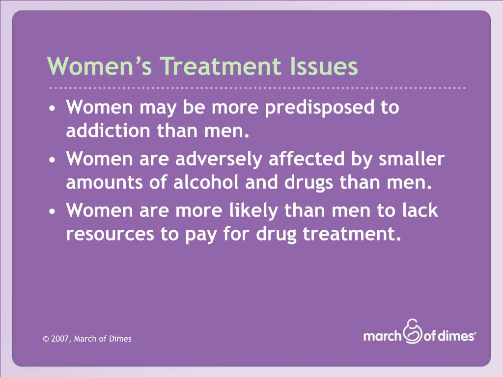 Women's Treatment Issues
