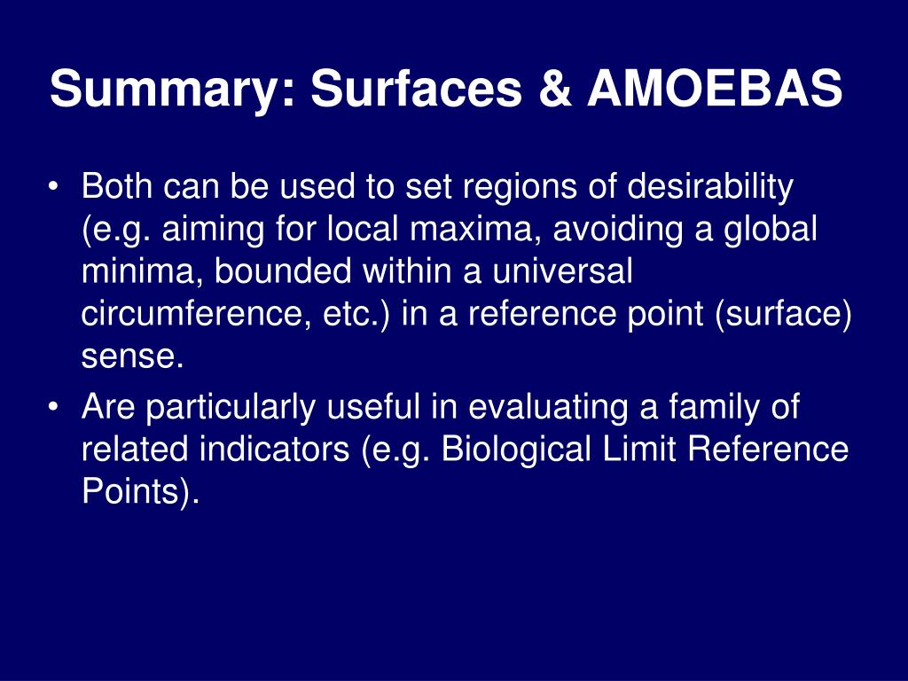 Summary: Surfaces & AMOEBAS