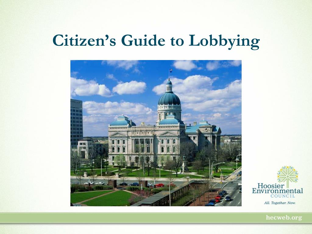 Citizen's Guide to Lobbying