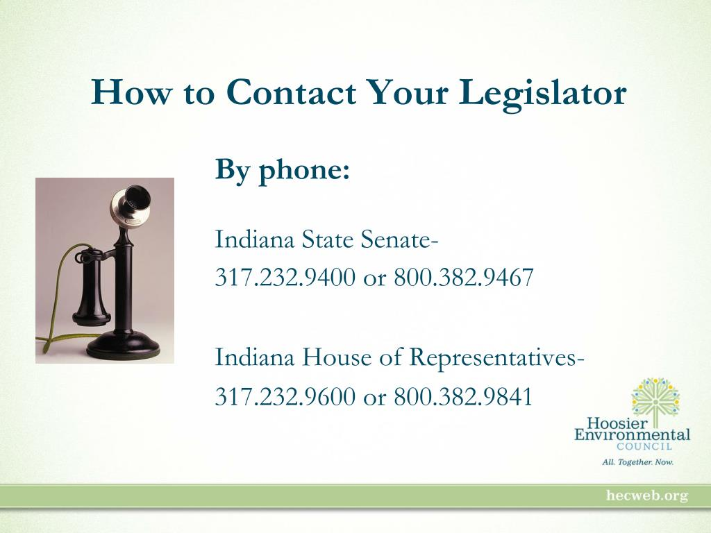 How to Contact Your Legislator