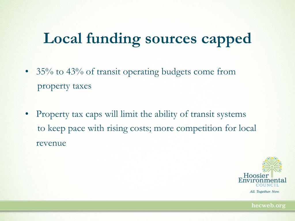 Local funding sources capped