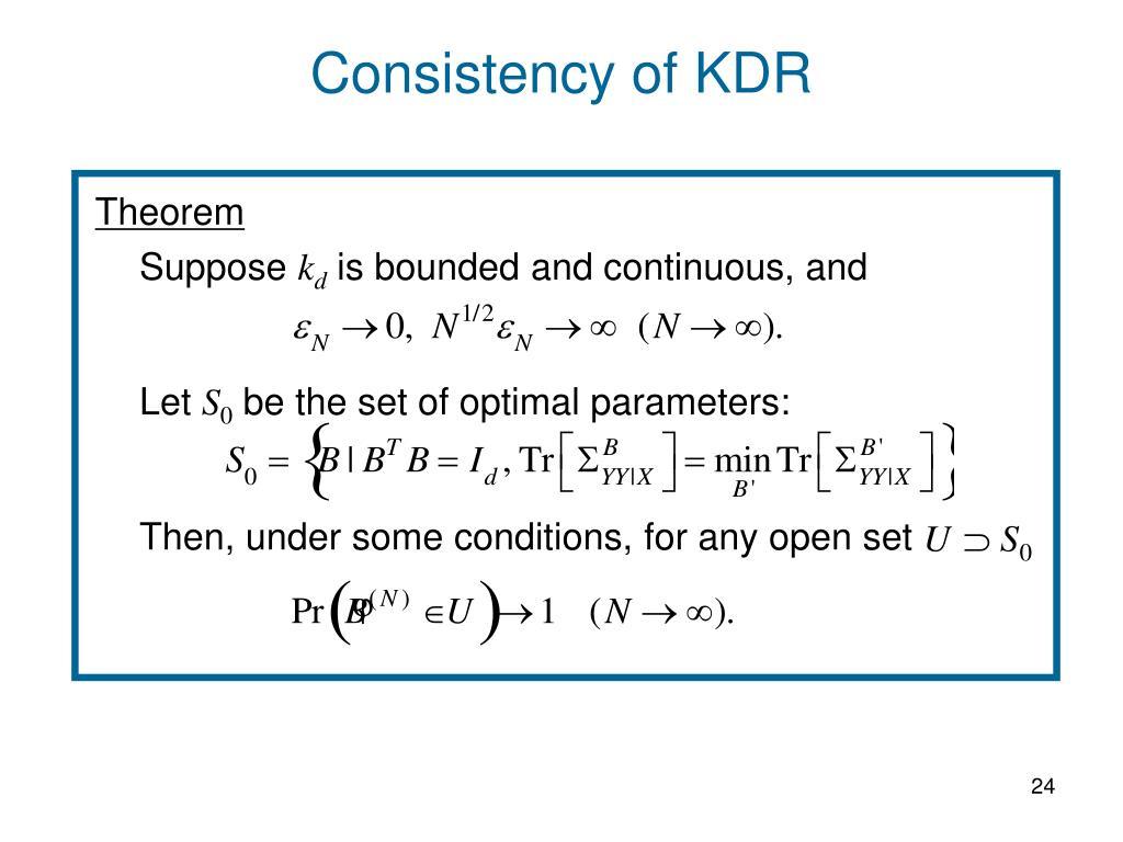 Consistency of KDR