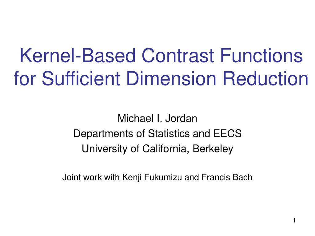 Kernel-Based Contrast Functions for Sufficient Dimension