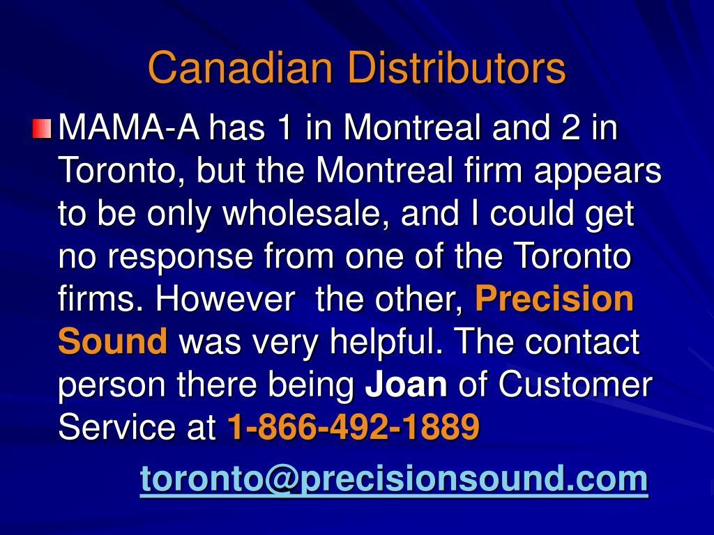 Canadian Distributors