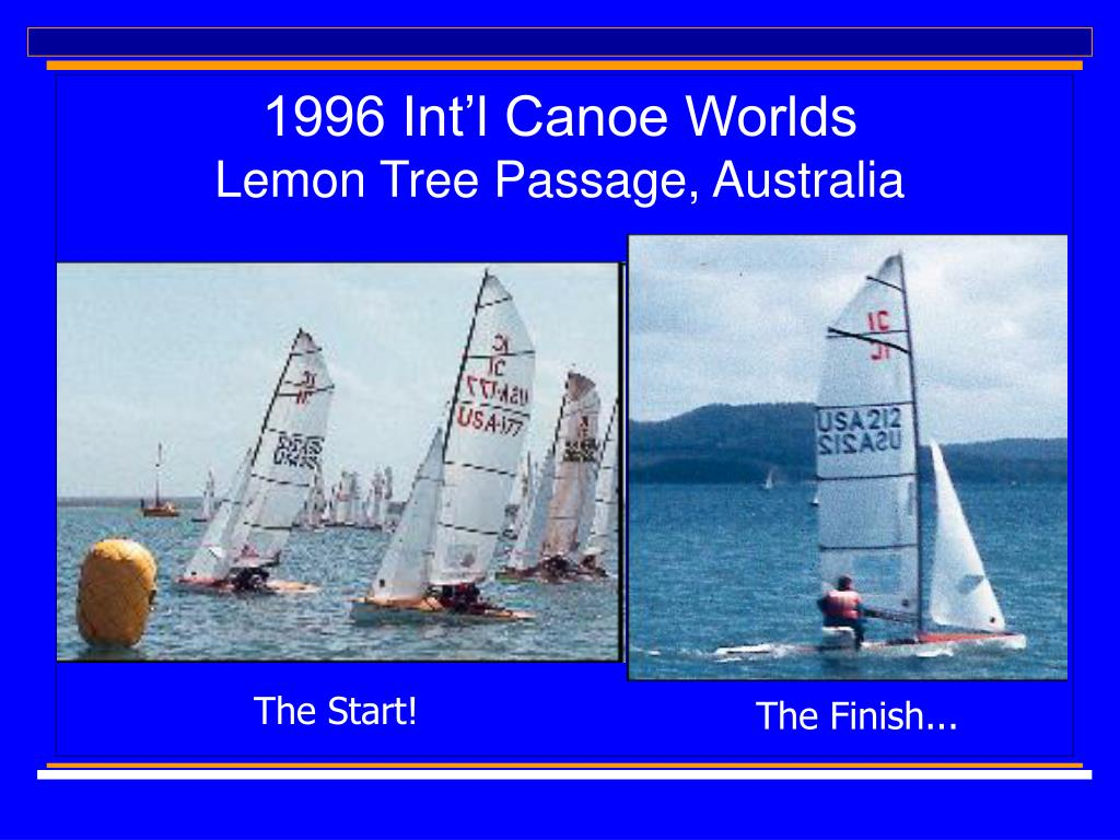 1996 Int'l Canoe Worlds