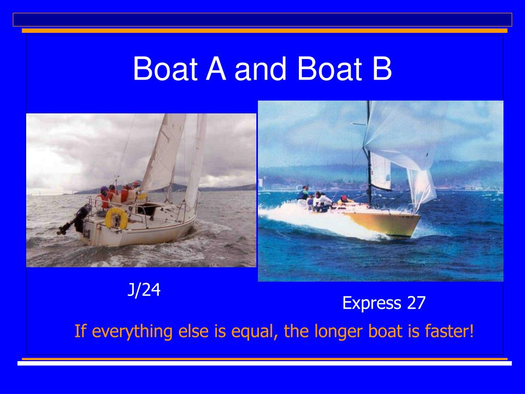 Boat A and Boat B