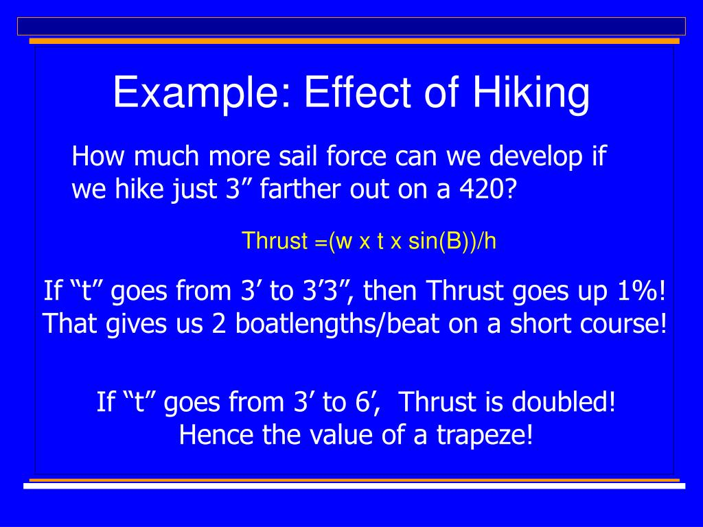 Example: Effect of Hiking