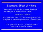 example effect of hiking