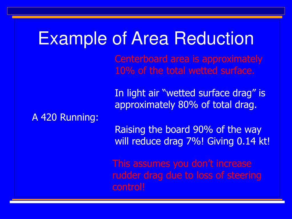 Example of Area Reduction